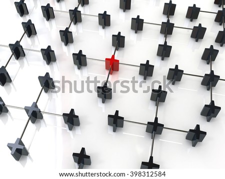 Metaphor of communication. Concept networking - 3D rendered illustration - stock photo