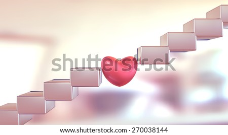 Metaphor of love solving a problem or finding a way. - stock photo