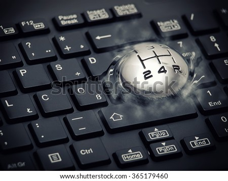 Metaphoric image about acceleration of computers or Internet.