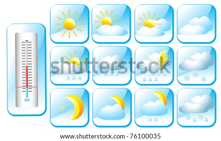 meteo icons - stock photo