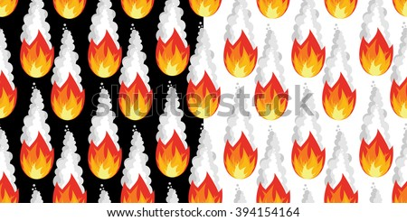 Meteor shower seamless pattern. Falling meteorite ornament. Texture of fireball. Comet flies in night. Flying steroid. outer heaven in body heat. - stock photo