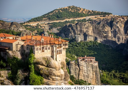 Meteora, Greece - July 19th.2014 - The monastery of Meteora region in northern Greece, Europe.