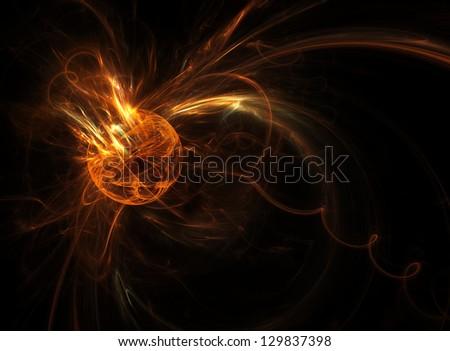 Meteorite burn up in the upper atmosphere - stock photo