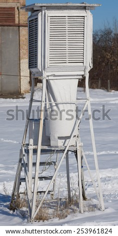 meteorological station equipment - stock photo