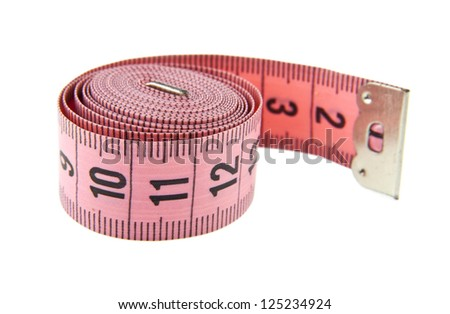 meter isolated on a white background - stock photo