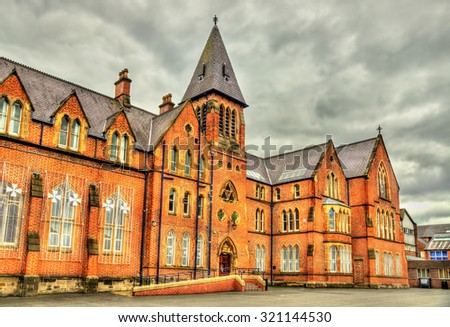 Methodist College in Belfast - Northern Ireland - stock photo