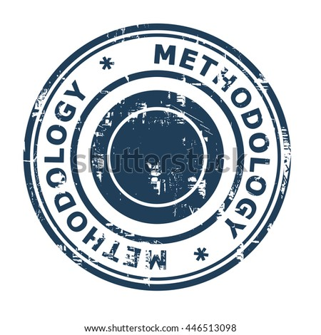 Methodology business concept rubber stamp isolated on a white background.