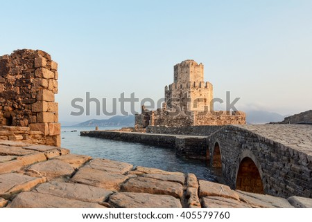 Methoni medieval castle in Greece
