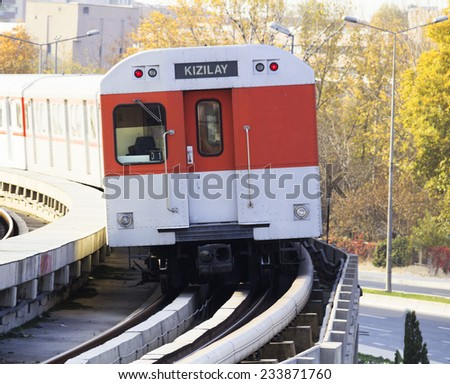 metro, Ankara, capital city of Turkey - stock photo