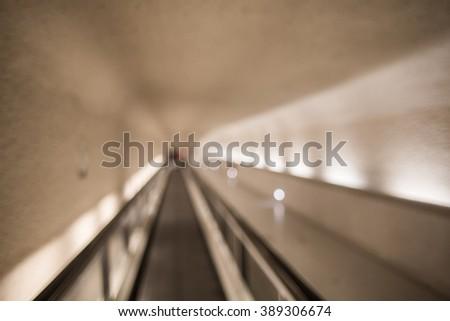 Metro blurred background - stock photo