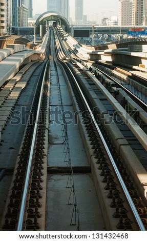 Metro in Dubai United Arab Emirates - stock photo