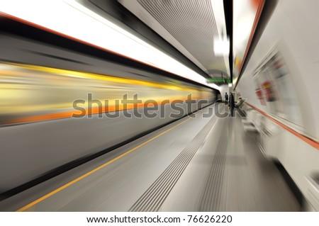 Metro station - stock photo