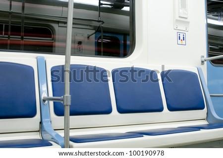 Metro vehicle interior - stock photo