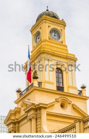 Metropolitan Cathedral in Santiago. - stock photo
