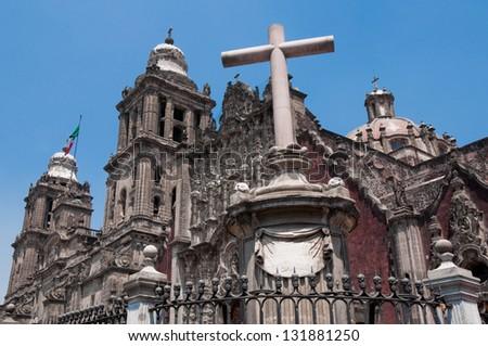 Metropolitan Cathedral, Mexico City - stock photo