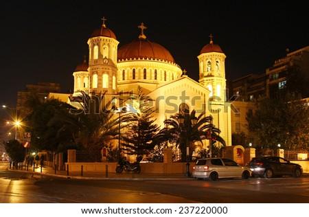 Metropolitan church of St. Gregory Palamas, Thessaloniki, Greece - stock photo
