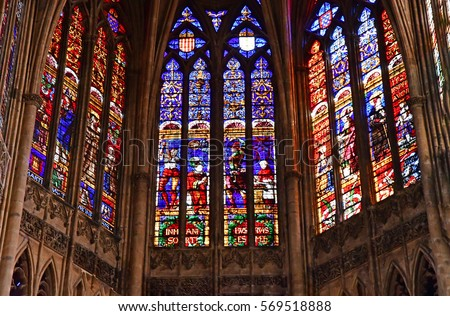 Stained Glass Window Stock Images Royalty Free Vectors