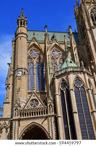 Metz, France - july 25 2016 : the Saint Etienne cathedral