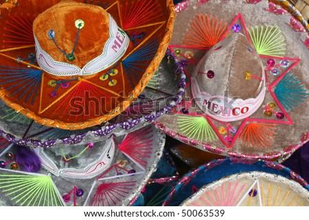Mexcian hats - stock photo