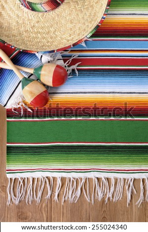 Mexican background, sombrero, vertical   - stock photo
