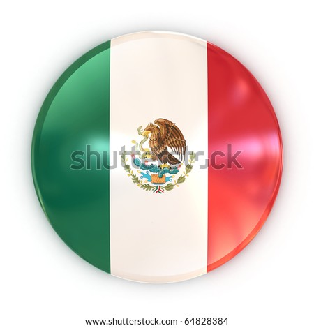 mexican badge - stock photo