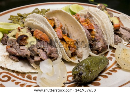Mexican Beef Tacos Close Up