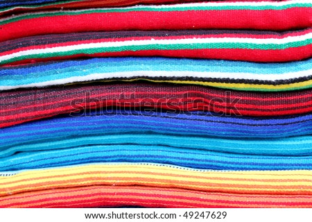 Mexican blankets - stock photo