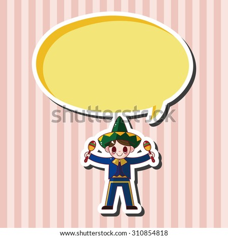 Mexican, cartoon speech icon