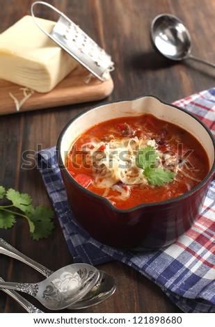 Mexican chili con carne - stock photo