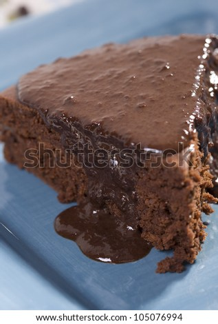 Mexican Chocolate Cake with Chocolate Sauce - a vegan recipe containing no dairy or eggs