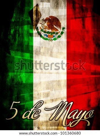 Mexican 5 / Cinco de mayo poster - card template - stock photo