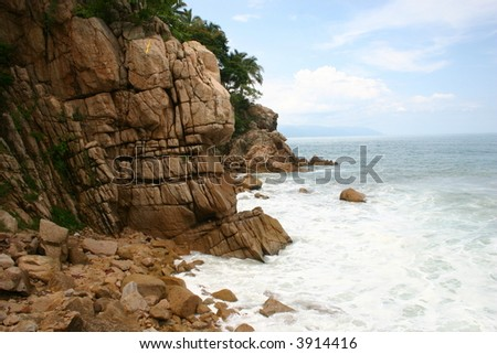Mexican coast - stock photo