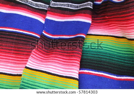 Mexican color poncho - stock photo