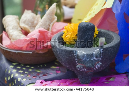 mexican dia de los meurtos festival - stock photo