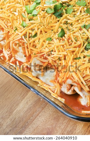 Mexican dinner bake - stock photo