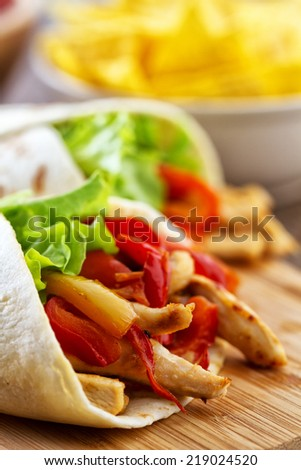 Mexican fajitas - stock photo