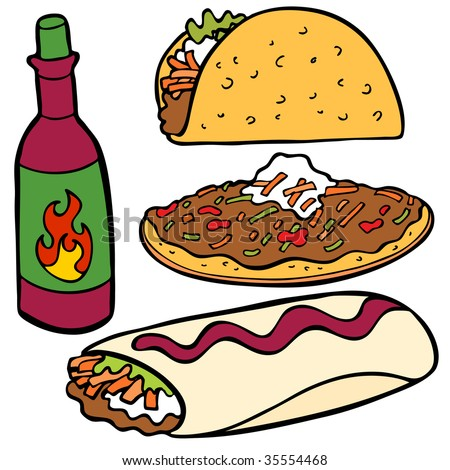 mexican Food Items - stock photo