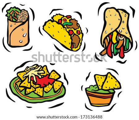 Mexican Food Set - stock photo