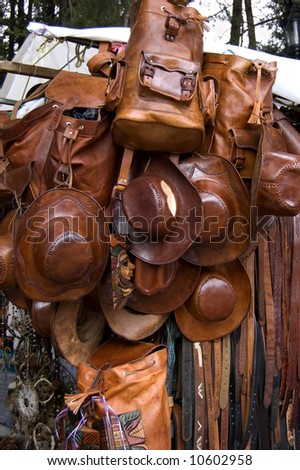 Mexican gifts for sale in a market in chiapas, mexico - stock photo