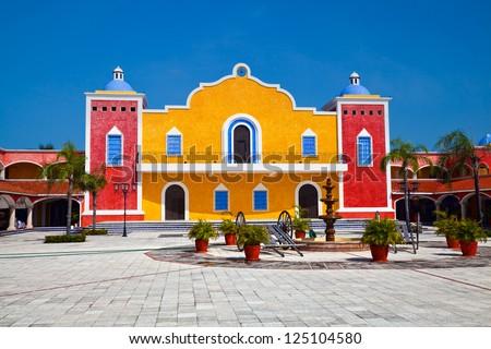 Mexican Hacienda in the Mayan Riviera, Mexico - stock photo