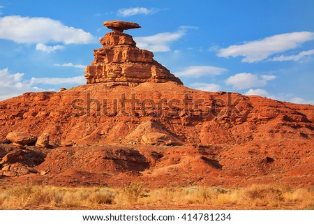 Mexican Hat Rock in Utah - stock photo