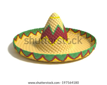 how to draw a mexican hat