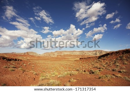 Mexican Hat Utah. Raw Mexican Hat Desert Landscape. Southern Utah State, United States.