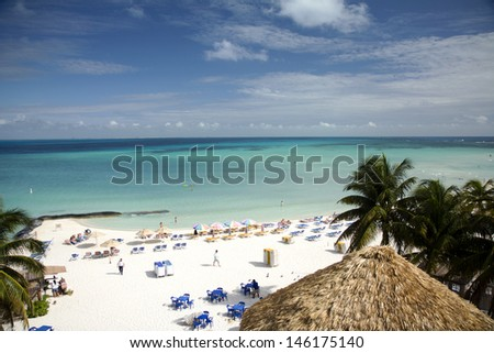 Mexican paradise tropical beach in Isla Mujeres
