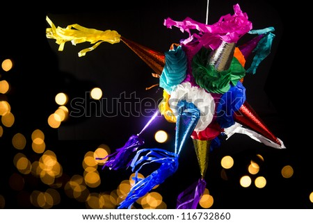 mexican pinata used in posadas and birthdays - stock photo