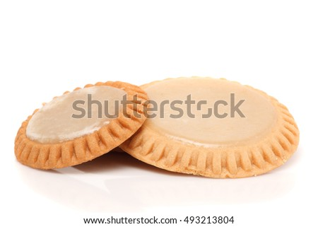 Mexican sweet, tortitas de santa clara, isolated in white background.