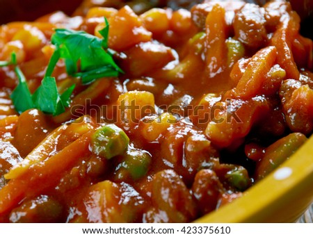Mexican  Taco Soup. close up - stock photo