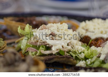 Mexican tostada  - stock photo
