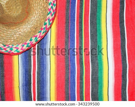 mexican traditional cinco de mayo rug poncho fiesta with stripes
