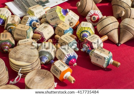 Mexican variety of toys - stock photo